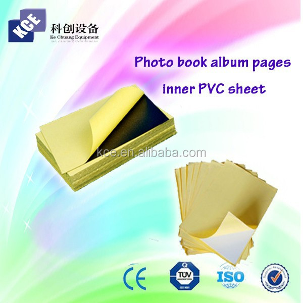 Many thickness an sizes album pvc for photo album book inner pages