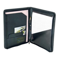 Executive Folding Shaple PU Leather Meeting File Folder for Business Man