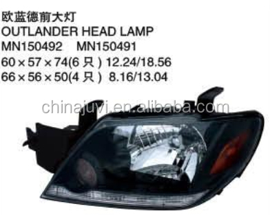 new car product High Quality/factory price Auto/Car for Mitsubishi Outlander headlamp/light MN150492 ,491 china supplier alibaba