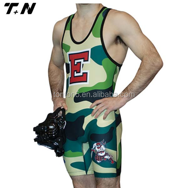 wholesale custom sublimation printing wrestling wear wrestling singlet