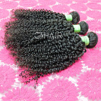 Chinese supplier natural black virgin brazilian hair weave kinky curly