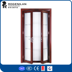 ROGENILAN double leaf door frosted glass exterior main door designs home