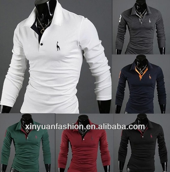 men polo t-shirt embroidery deer blank