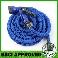25 Feet Super Strong Garden Hose Expandable Hose with 7 function Spray Nozzle Double Latex Core