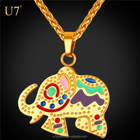 U7 Stainless Steel Gold Accessories Animal