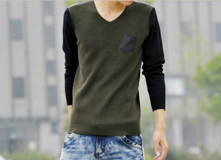 D90242M MEN LONG-SLEEVED CASUAL SWEATER