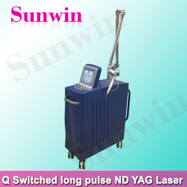 high power q-switch nd-yag laser tattoo removal and pigment removal