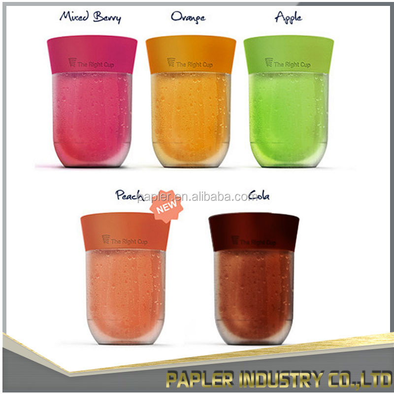 The Right Mineral Water Cup Double Wall Plastic Cup(With Water Inside) Of Fruit Flavored Cup From Factory