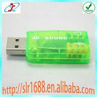 USB 2.0 External 3D Sound 5.1 Channel Audio PC USB Sound Card