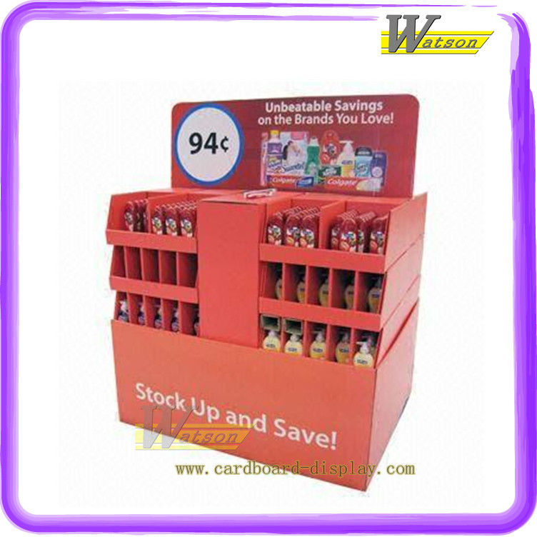 High Quality Promotonal Cardboard Display Stand for Shower Gels