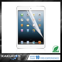 Anti - fingerprint and anti - dust high clear or matte transparent screen protector for ipad