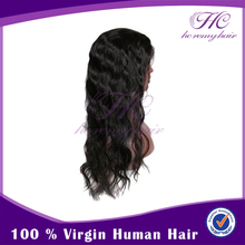 No Shedding And Healthy Indian Top Quality Cheap Virgin Hair Full Lace Wigs For Men