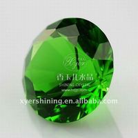 Crystal Glass Diamond Shaped Paperweight