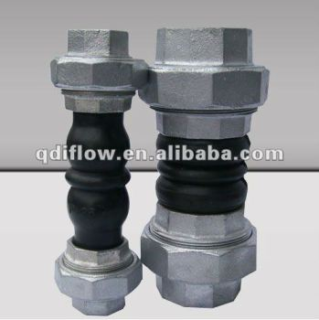 Screwed rubber expansion joint double sphere
