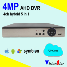 VisionStar 4MP AHD DVR Hybrid 5 in 1 4CH Mini DVR Support P2P Cloud Service