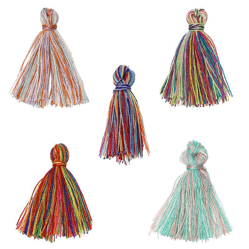 Custom Mixed 20.0mm Cotton Silky Tassel Fringe For Jewelry