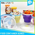 Latest design portable cheap baby food container silicone