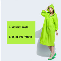 New arrival EVA long fluorescent skiing raincoat ladies fashion wind coat