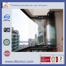 New aluminium frameless balcony windows made in China.