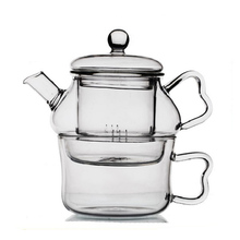 Clear Heat Resistant Glass Teapot 200ml With RemovableTea Infuser