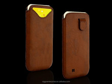 Universal phone case genuine leather mobile phone holster leather phone pouch