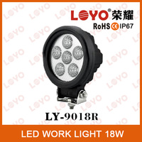 Hot sale !!!18W LED work lamp wide flood round LED truck rear tail light offroad light