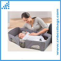 New Summer Infant Deluxe Infant Baby Travel Bed Portable Folding Crib Bassinet