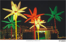 Festival led coconut tree light , bule and green outdoor led tree light