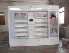cosmetic shop counter design Display Showcase