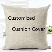 Custom Fashion Decorative Photo Design Printed Cotton Linen Textile Pillow Cushion Cover Wholesale For Office Chair
