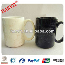 straight ceramic marble mugs,reaationary porcelain cups with handle,2014 fashionable ceramic drinkware sets