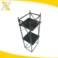 HYX-A145 car accessory component display rack with shelf , metal sport goods display racks