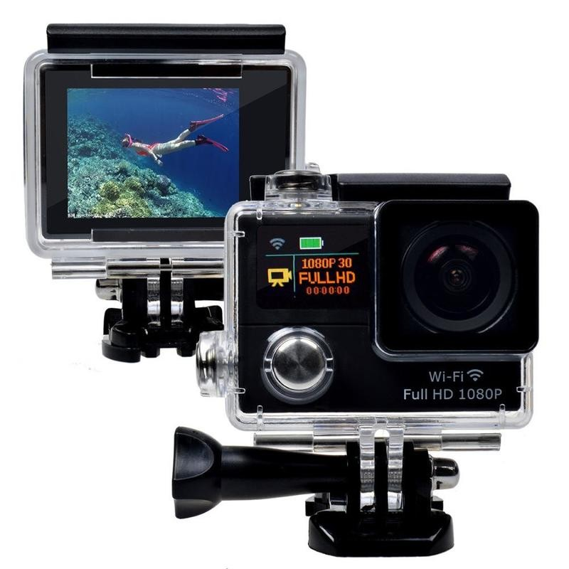 Mini Wireless Dual display Screen Full HD 1080P Water Proof Sports Camera Action Digital Camera G3/G3R