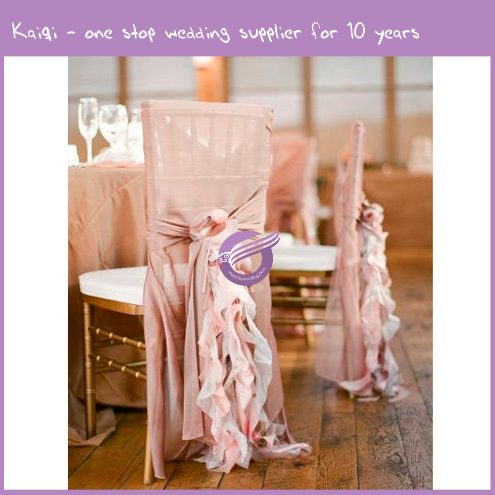 wedding chiffon elegant cheap wholesale ruffle chair sash