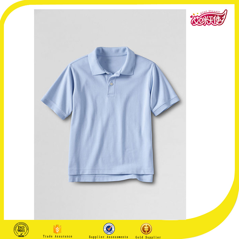 Wholesale Customzied color High Quality Kids 100% cotton primary school uniform polo t shirts
