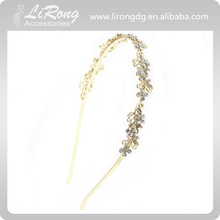 Handmade crystal Hair Clasp Bridal alloy Hair accessories Hair band