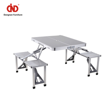 Outdoor Furniture Aluminium Camping Portable Outdoor Folding Table And Chairs