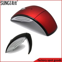 2.4ghz usb wireless mouse folding arc mouse