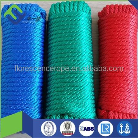 yacht used solid braided polyester rope dock mooring rope line and anchor line