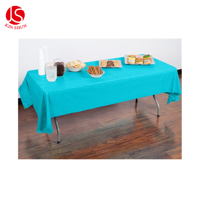 Birthday Party Plastic Disposable Custom White Tablecloth