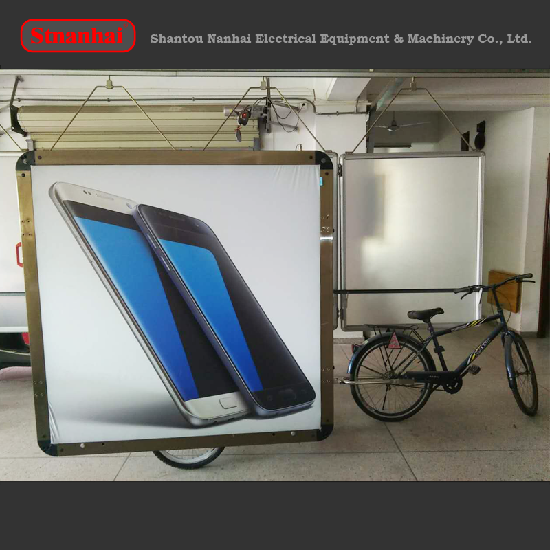 J9B-119 2016 New products advertising bike trailer billboard sign with lithium battery
