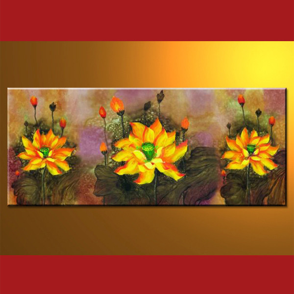 100% Handmade Oil Flower Painting On Sale