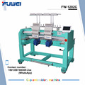 FUWEI computerized 2 heads rack embroidery machine industrial embroidery machine for clothing