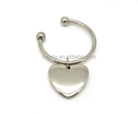 Metal key ring the heart Present Gift Pairs Baby Kiss Key Rings Chains Forever Love Heart