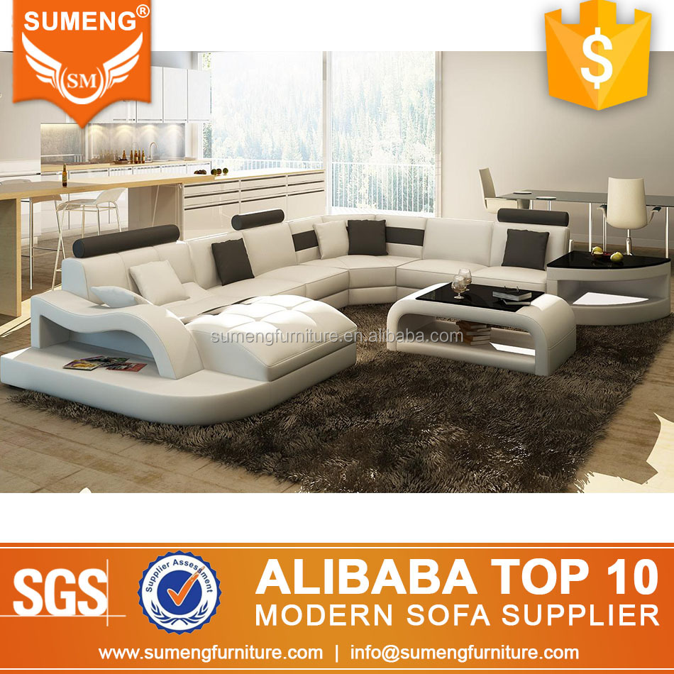 Sumeng modern furniture china u shape sectional sofa set