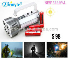 S98 New Arrival Direct charger Emergency Flashlight Rechargeable Hand Held Search Light