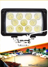 Rectangular Automotive Parts 6'' 4x4 Offroad Work Light 33w Led Work Light lamp for Tractor offroad ATV UTV boats vehicles