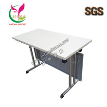Hot sale melamine table top 3 years guarantee period folding rectangle conference meeting table YC-T189
