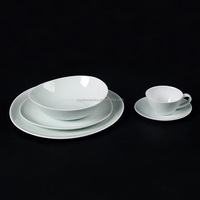 hot sale direct manufacturer jade glaze western style 20pcs fine porcelain dinner set