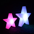 Foshan manufacturer color changing LED Plastic star use for Christmas tree